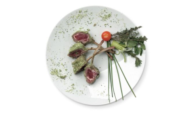 Carrè di agnello in crosta di erbe aromatiche